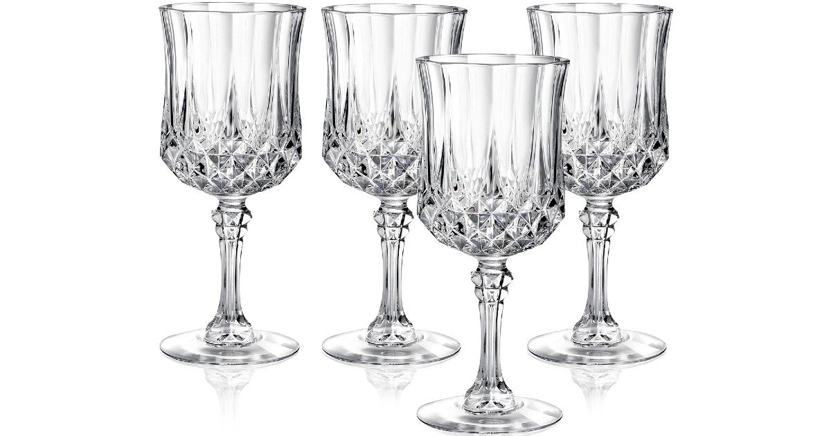 Cristal D'Arques Set of 4 Wine Glasses ONLY $12.99 (Reg $30)