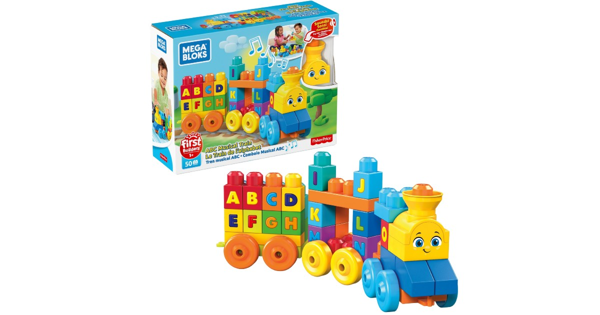 Mega Bloks First Builders ABC Musical Train ONLY $9.99 (Reg $20)