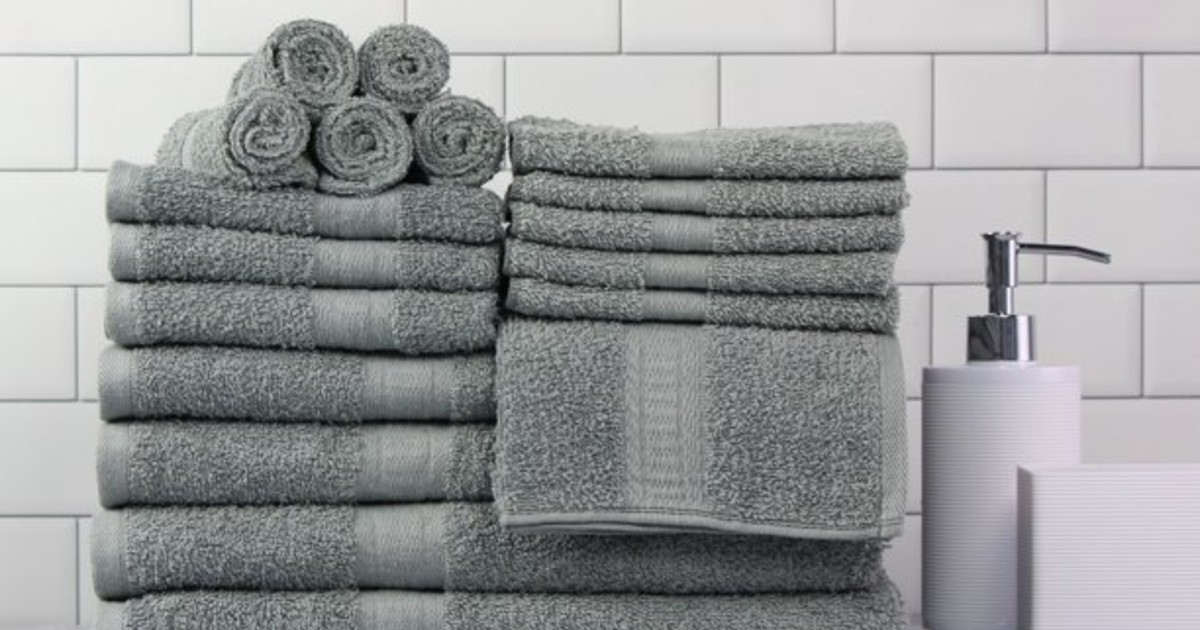 Mainstays 18-Piece Towel Set ONLY $24.99 (Reg. $57)