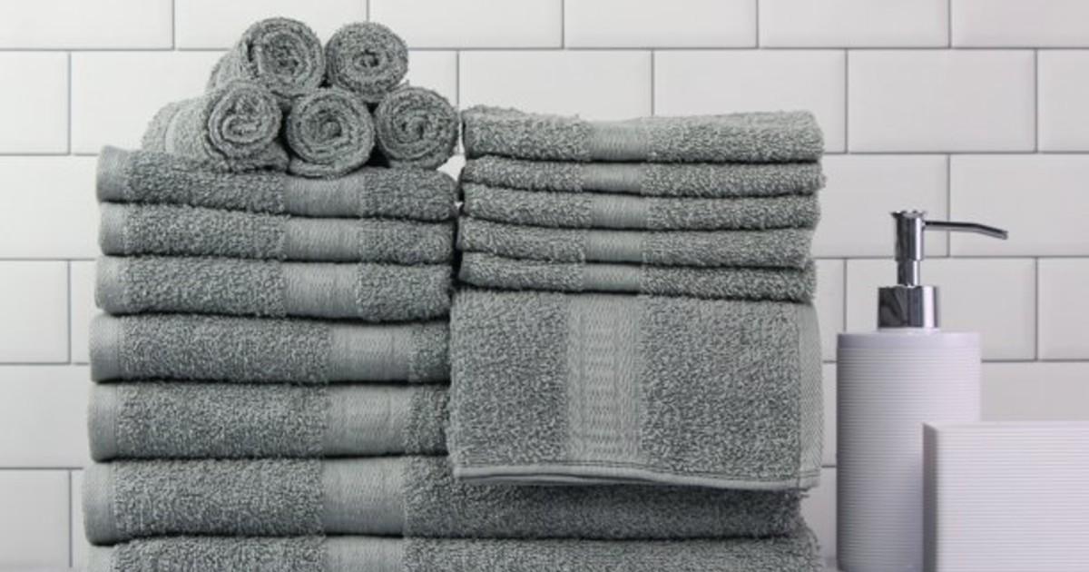 Mainstays 18 Piece Towel Set O...