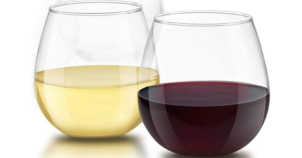 Stemless Wine Glasses 4-Count
