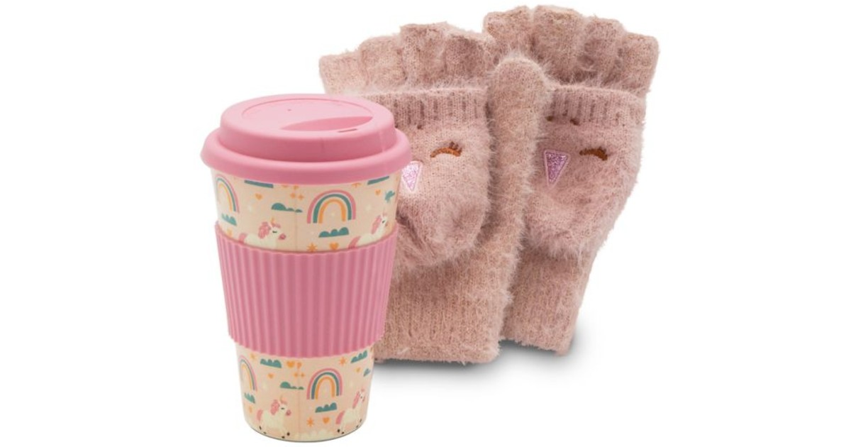 Girls Gloves and Travel Cup Se...