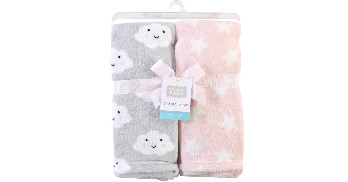 Baby Plush Blankets 2-Pack