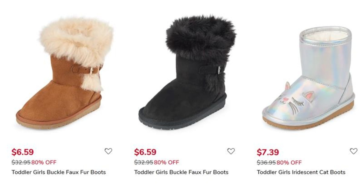 Toddler Girl Boots for $6.59 - 80% Off and FREE Shipping