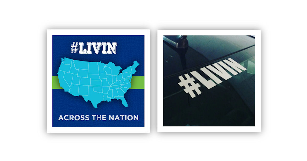 FREE LIVIN Decal