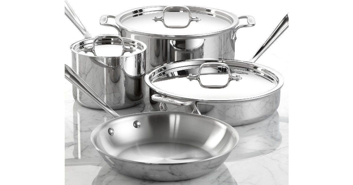 All-Clad Stainless Steel 7-Pc Cookware Set