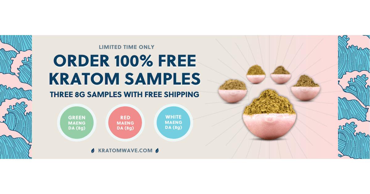 FREE Kratom Wave Sample Pack