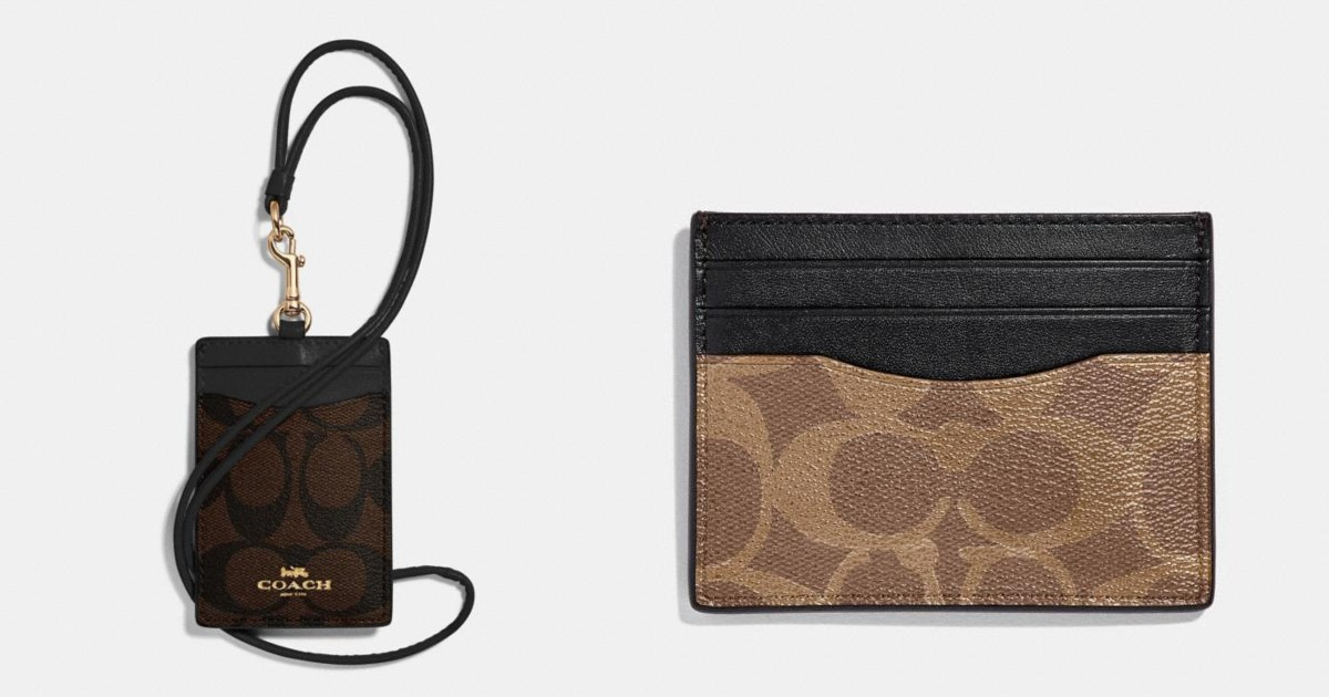 Coach Card Cases as Low as $23.20 Shipped + Free Face Mask