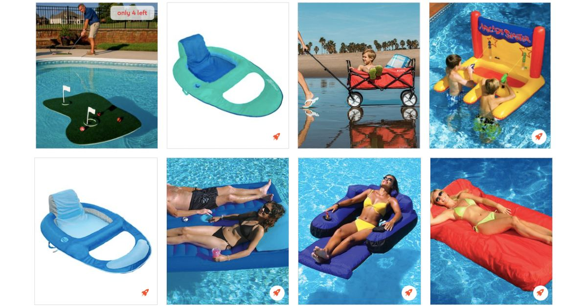 Pool and Beach at Zulily
