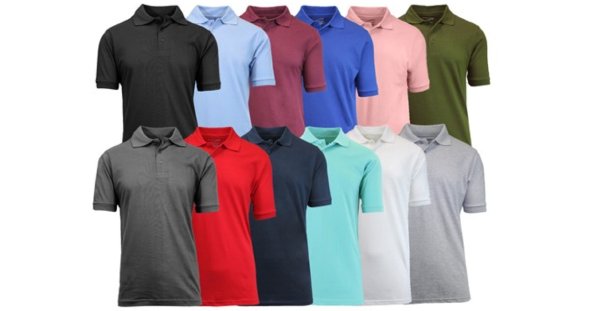 Men's Assorted Pique Polo 4-Pack at Woot