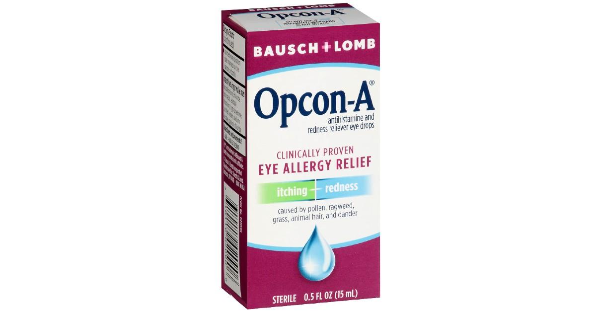 Bausch + Lomb Opcon-A Eye Drops