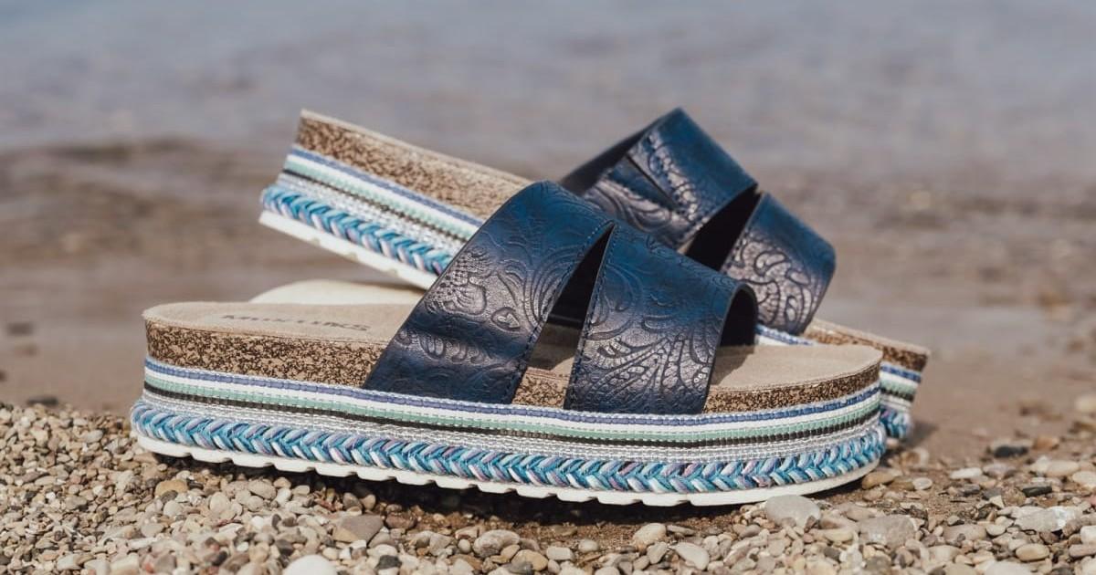 MUK LUKS Beach Blanket Platform Sandals ONLY $29.99 (Reg. $55)