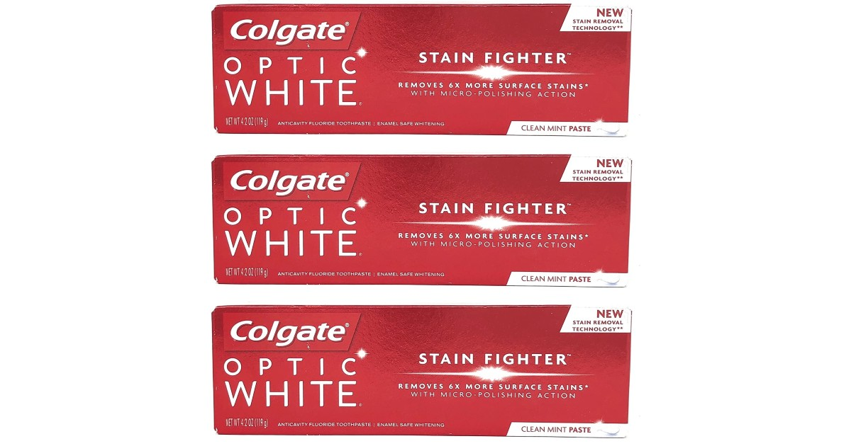 FREE Colgate Optic White Stain Fighter Toothpaste