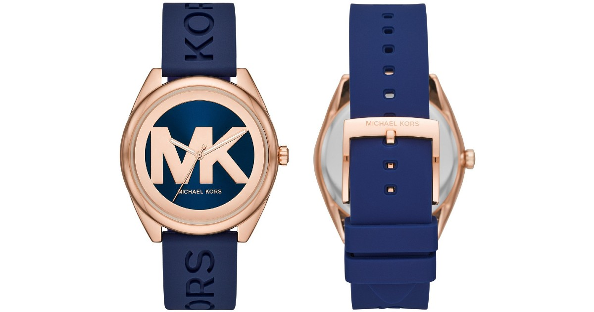 Michael Kors Navy Silicone Watch 42mm