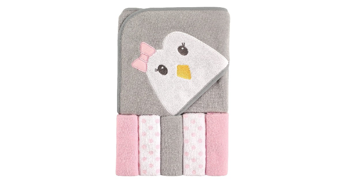 Baby Hooded Towel with Five Washcloths as Low as $6.79
