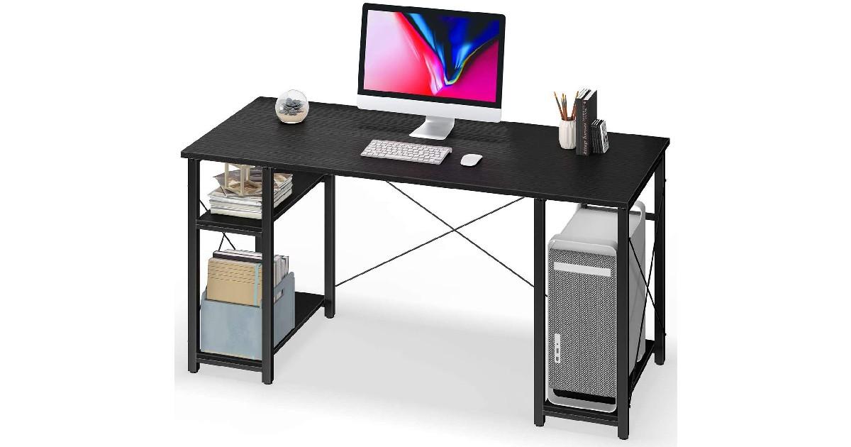 Computer Desk with Storage Shelves ONLY $49.99 (Reg. $100)