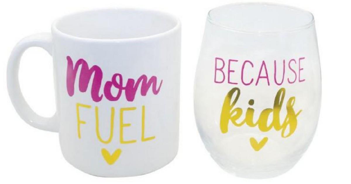 Mom Mug and Wine Glass Set ONLY $9.99 (Reg. $26)