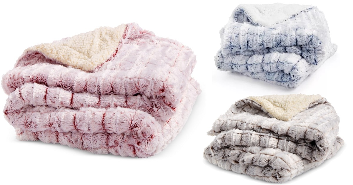 Reversible Micromink Faux-Sherpa Throw ONLY $20.39 (Reg. $40)