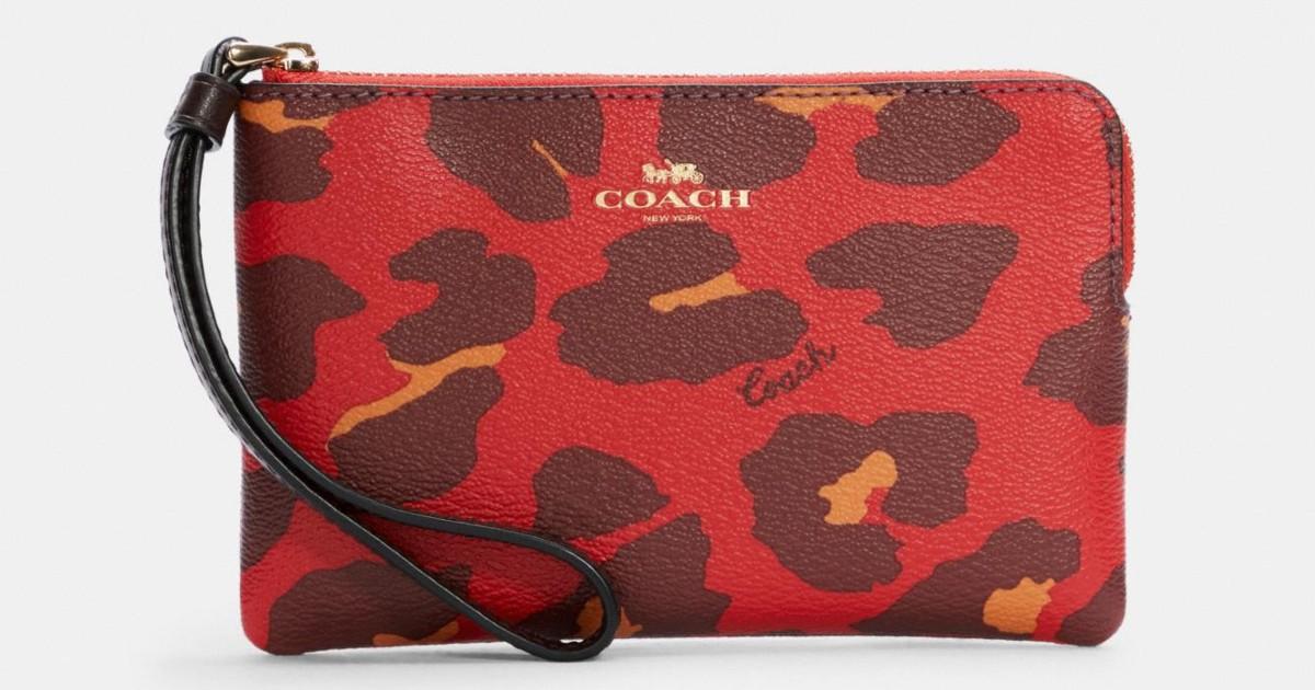 Coach Leopard Print Wristlet ONLY $31.20 (Reg. $78)