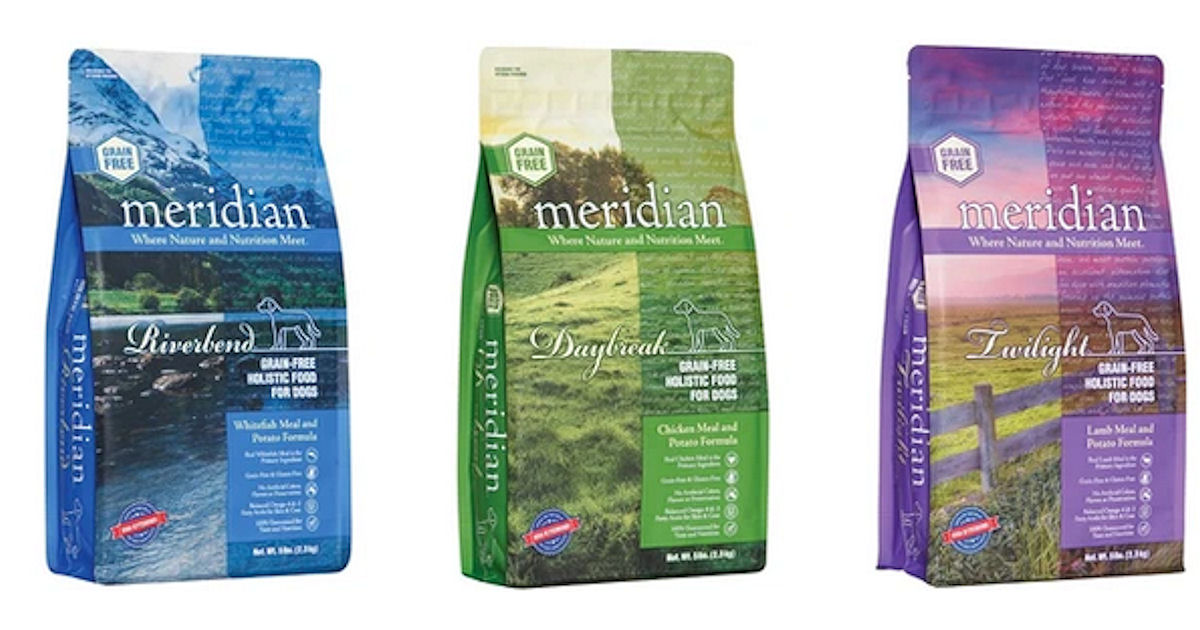 2 FREE Meridian Dog Food Samples