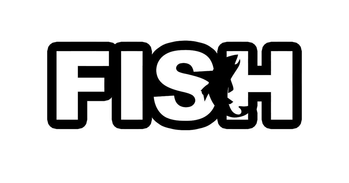 FREE Fish Catch Logo Classic Sticker