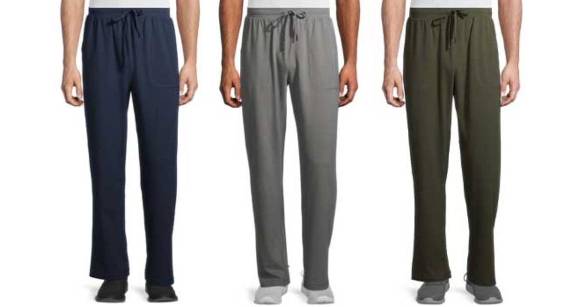 Athletic Works Men's Jersey Joggers at Walmart