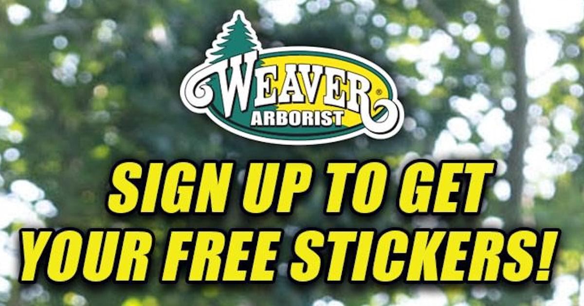FREE Weaver Arborists Stickers