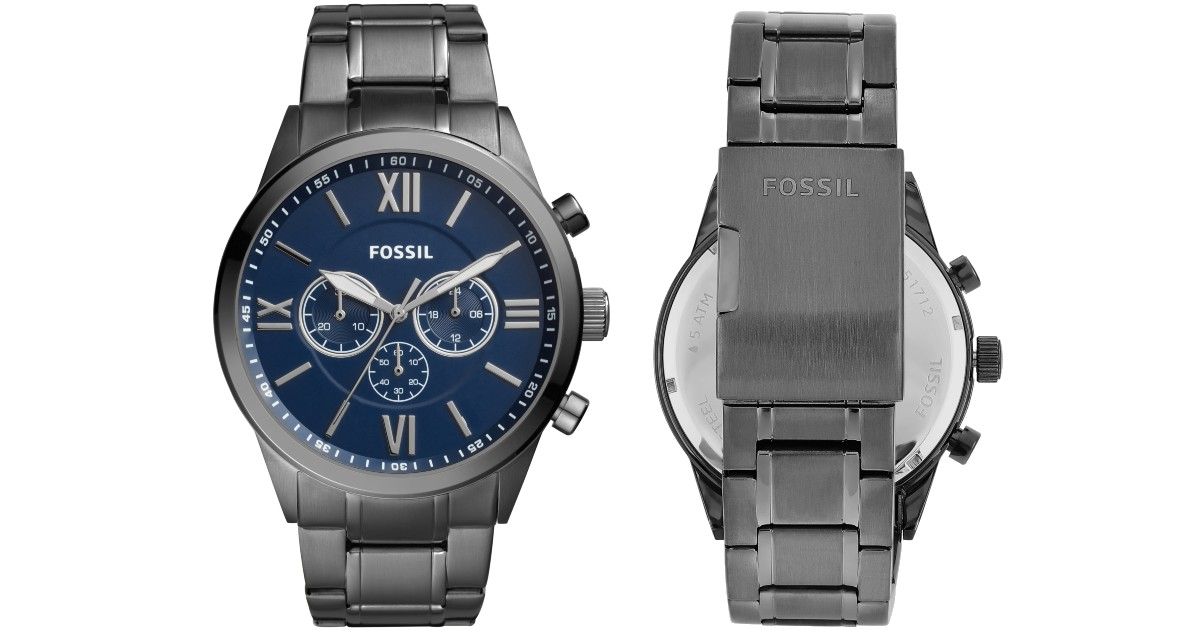 Fossil Mens Smoke Stainless St...