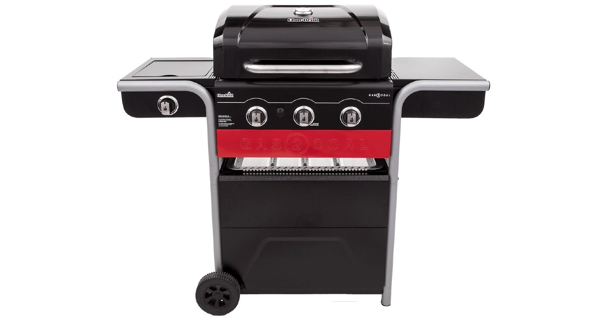 Gas & Charcoal Outdoor Grill