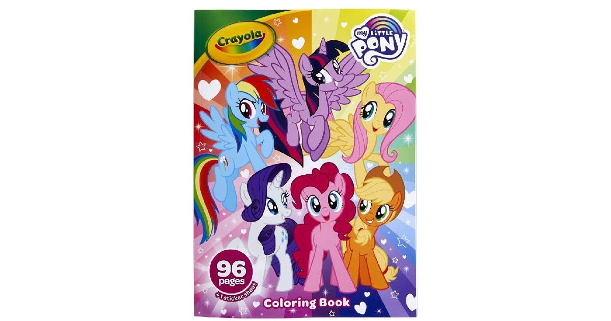Crayola My Little Pony Coloring Book ONLY $2.39 (Reg. $5)