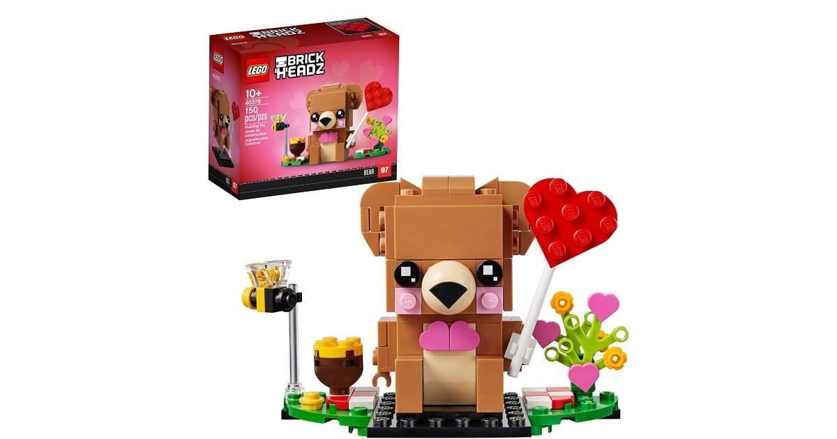 LEGO BrickHeadz Valentine's Bear ONLY $5 (Reg. $10)