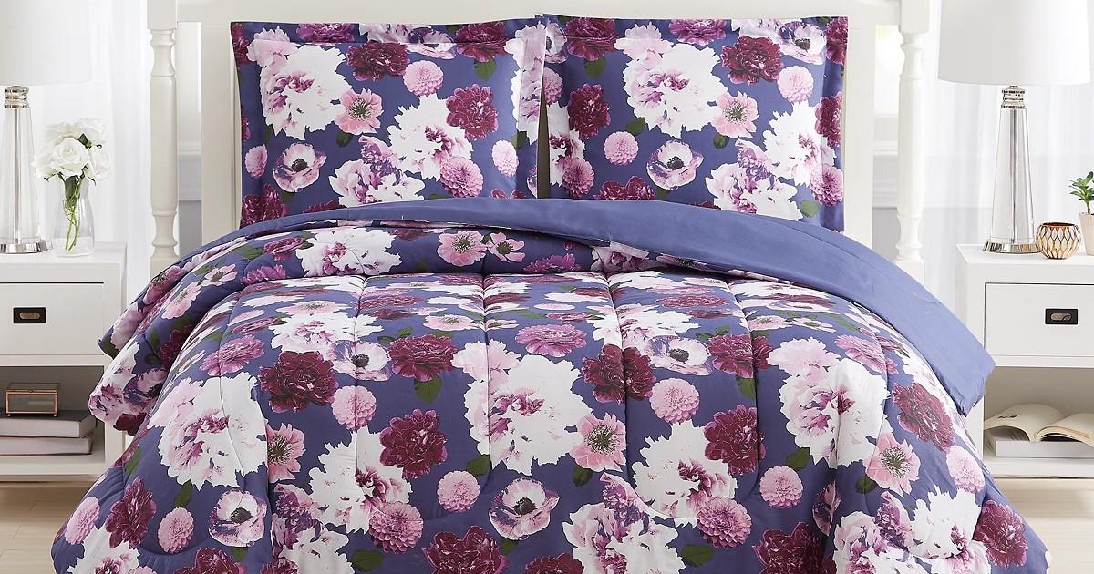 Bloomy Reversible 3-Pc Comforter Set