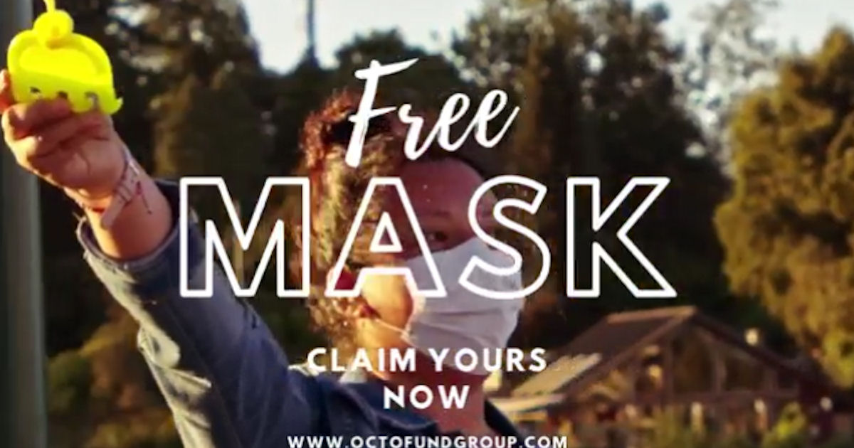 FREE Face Mask from the Octofund Group