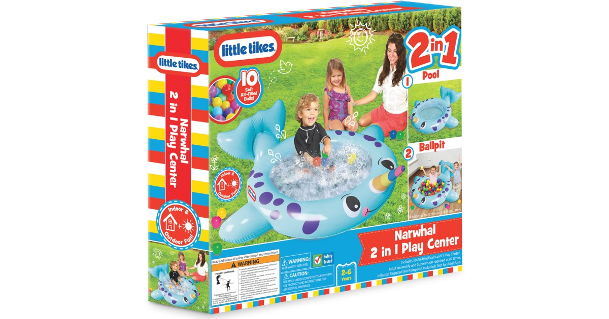 Little Tikes 2-in-1 Narwhal Pool