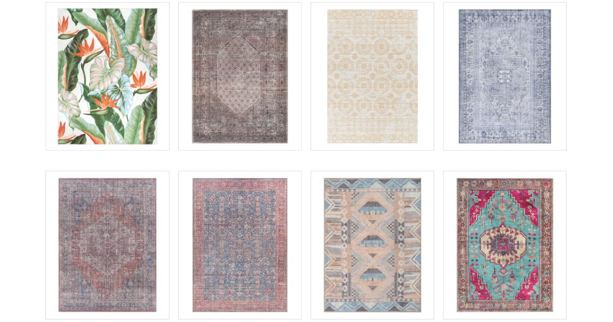 60% Off Machine Washable Rugs + Extra 10% Off at Checkout