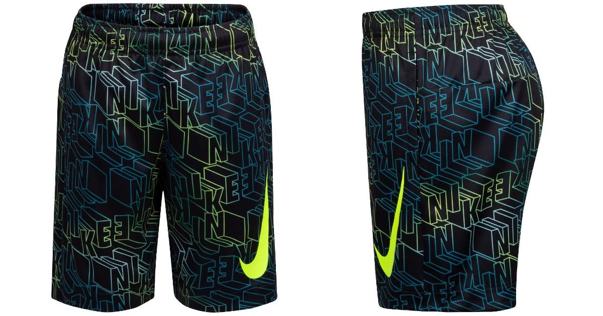 Nike Boys Dri-FIT Block Logo Print Shorts