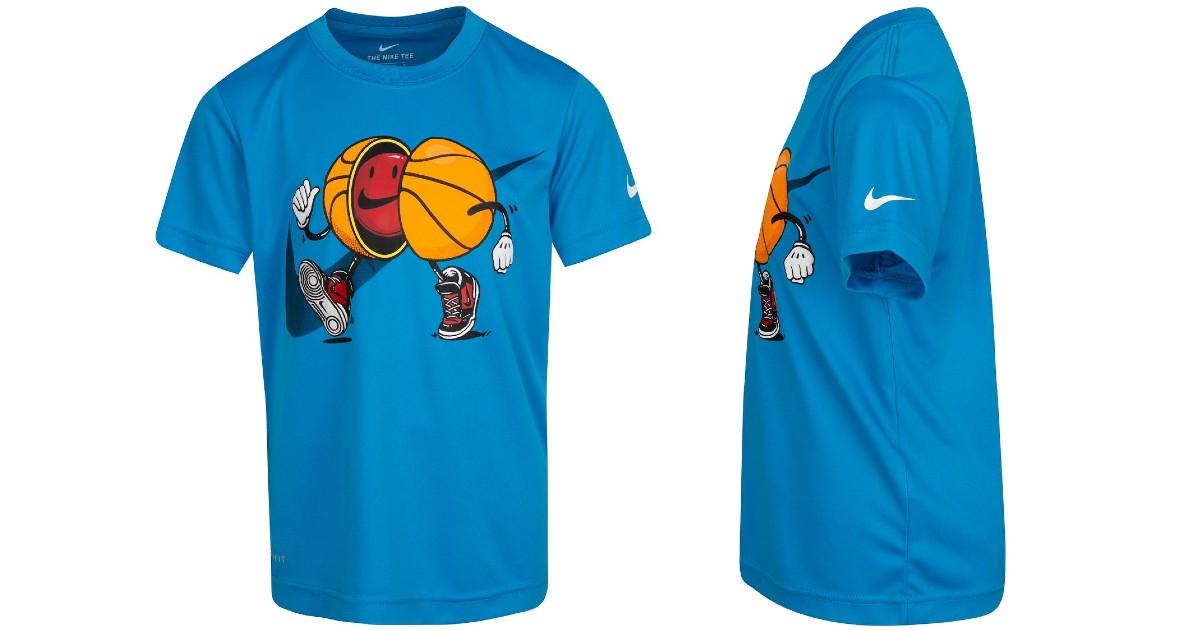 Boys Nike Cartoon Basketball Graphic Tee