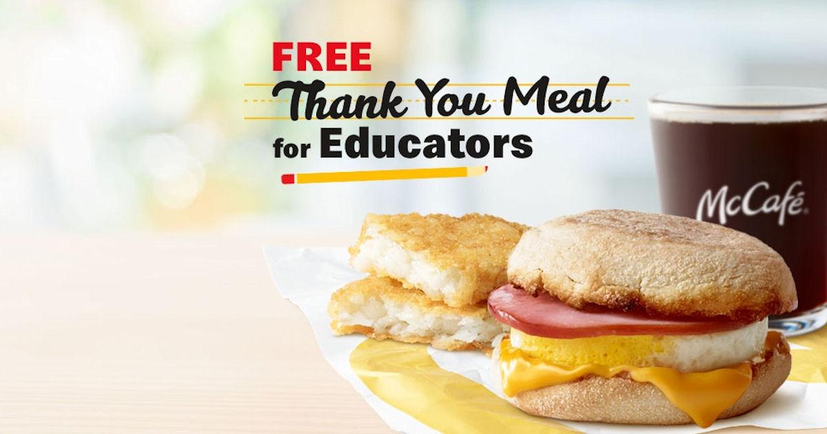 free,mcdonalds teachers