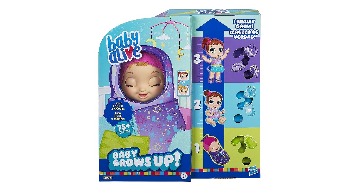 Baby Alive Baby Grows Up ONLY $29.99 (Reg. $60)