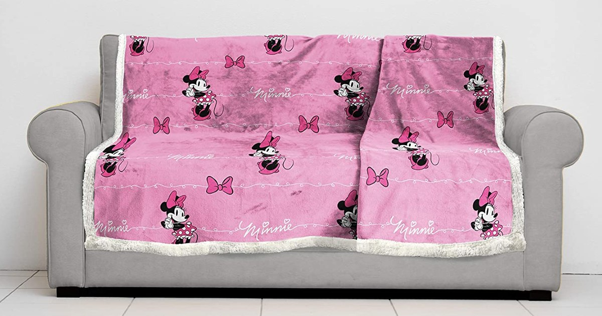 Disney Minnie Mouse Sherpa Back Blanket ONLY $19.97 (Reg. $50)