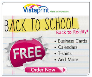 Before you try VistaPrint's free stuff for yourself, keep in mind a few things: You usually have to use the templates in order to get the free stuff. Check everything to make sure! The special free deals change from day to day, so if they don't have what you want for free today, check back later. You can get up to 10 free items per order.