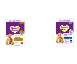 Score 2 free Samples of Parent's Choice Formula - Free Product Samples