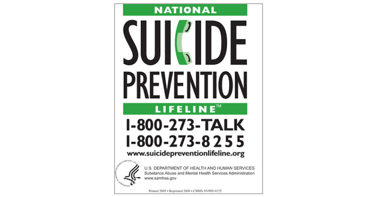 FREE National Suicide Preventi...