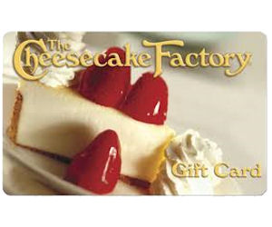 A Chance To Win A Cheesecake Factory Gift Card Free Sweepstakes