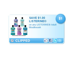 photograph about Listerine Coupons Printable named Listerine - Coupon for $1.00 Cost savings upon Any Grownup Mouthwash