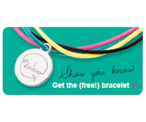 Order A Free U By Kotex Generation Know Bracelet