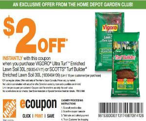 Home Depot Coupon For 2 Off Vigoro Ultra Turf Soil