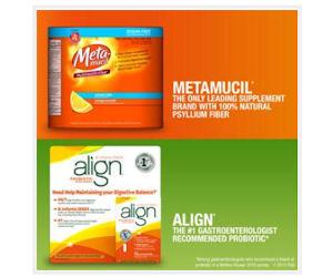 Grab a Free Metamucil Sugar-Free & Align Probiotic Sample