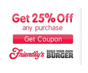 graphic relating to Friendly's Ice Cream Coupons Printable Grocery identified as Friendlys - Coupon for 25% off Complete Invoice - Printable Discount coupons