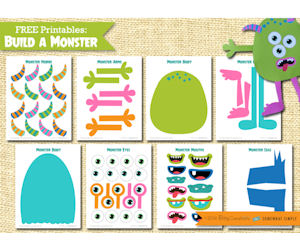 picture relating to Build a Monster Printable referred to as Establish A Monster with This Absolutely free Printabe Package - No cost Things